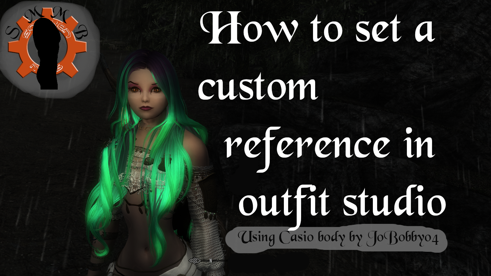 How to set a custom reference in outfit studio