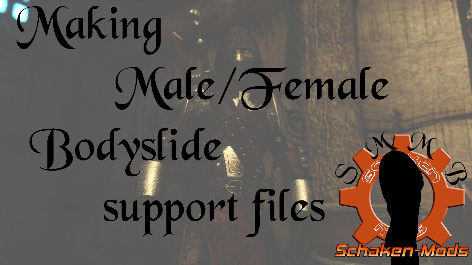 Making Male/Female Bodyslide support files